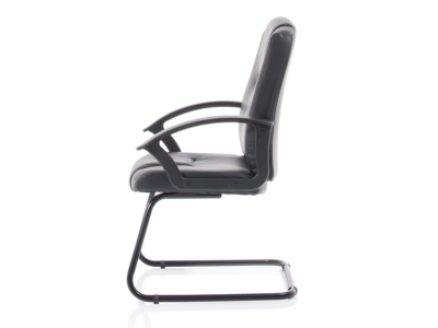 Lazaro Bonded Leather Cantilever Chair With Arms3