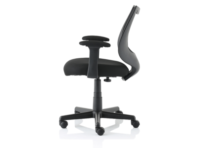 Lucca Black Mesh Chair With Fixed Arms3