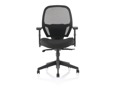 Luciana Medium Black Mesh Chair With Arms2