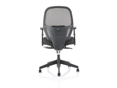 Luciana Medium Black Mesh Chair With Arms3