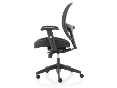 Luciana Medium Black Mesh Chair With Arms4