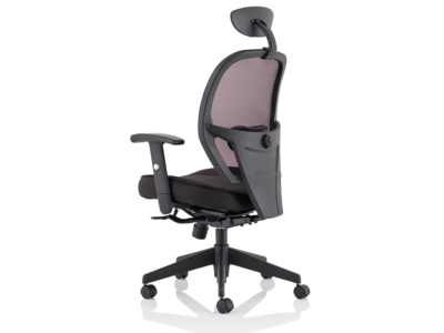 Luciana Medium Black Mesh Chair With Arms6