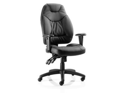 Lucinda Medium Black Operator Chair With Arms