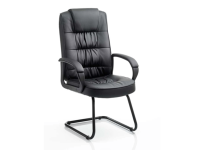 Mallow 1 Black Visitor Cantilever Chair With Arms1