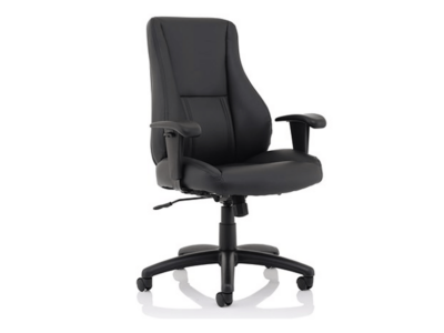 Marcel High Back Black Leather Chair