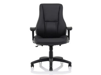Marcel High Back Black Leather Chair1