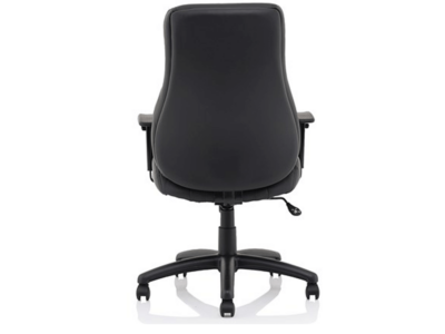 Marcel High Back Black Leather Chair3