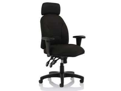 Martina Black Fabric Executive Chair