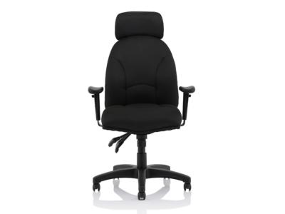 Martina Black Fabric Executive Chair1