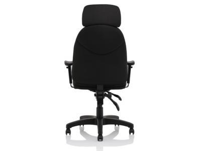 Martina Black Fabric Executive Chair2