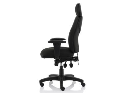 Martina Black Fabric Executive Chair3