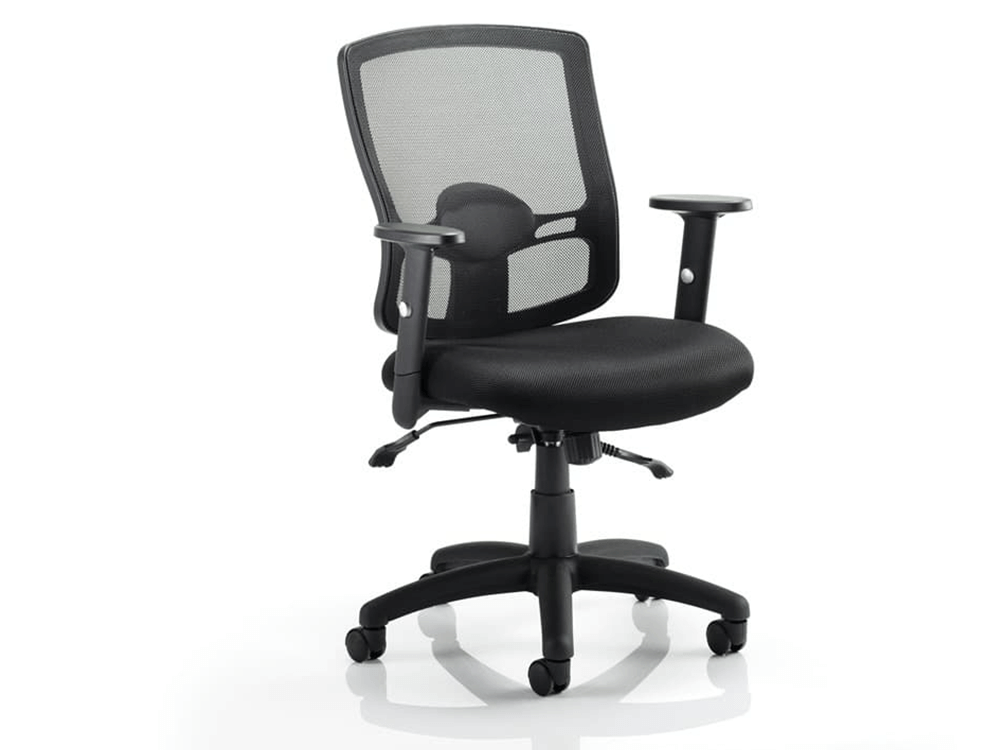 Oregon 2 Black Mesh Operator Chair With Arms