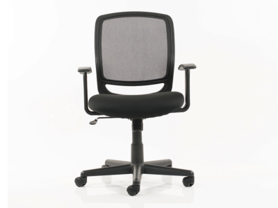 Ova Black Mesh Operator Chair With Arms