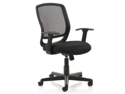 Ova Black Mesh Operator Chair With Arms1