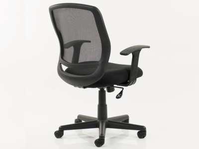 Ova Black Mesh Operator Chair With Arms2