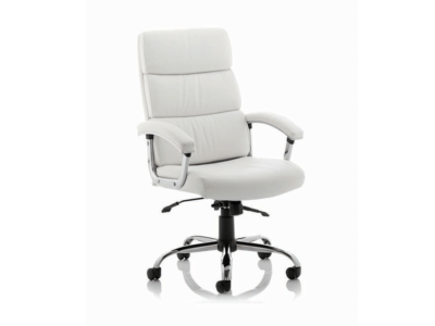 Pixie Executive Chair With Arms With Headrest White