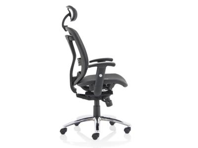 Rennie Black Mesh Executive Chair With Headrest4