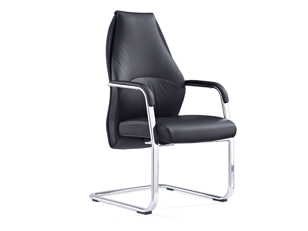 Ricco – High Back Black Cantilever Chair With Arms