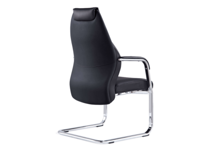 Ricco – High Back Black Cantilever Chair With Arms1