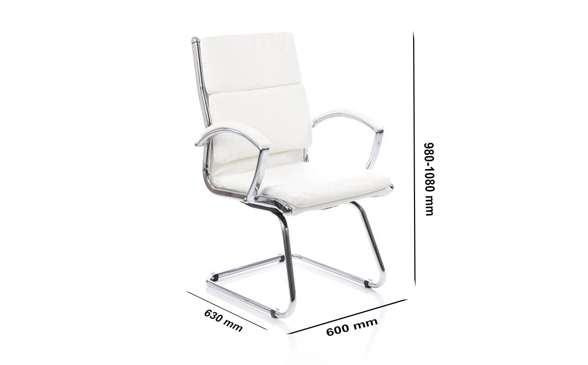 Size Arthur – Bonded Leather Cantilever Startup Visitor Chair With Arms