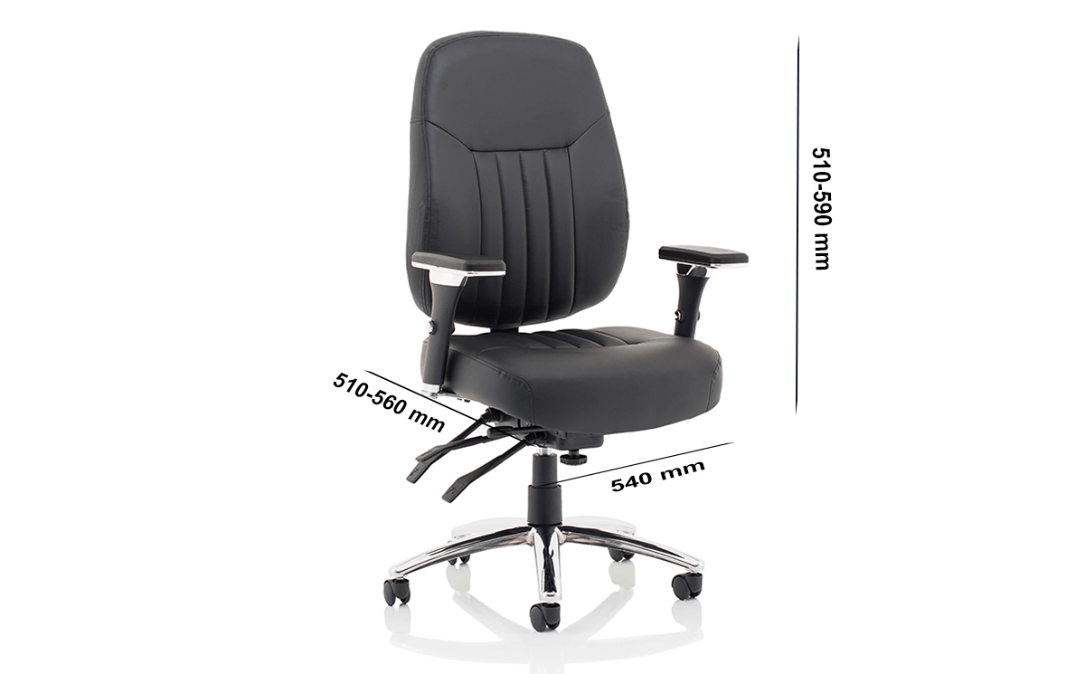 Size Citra Deluxe Black Operator Chair