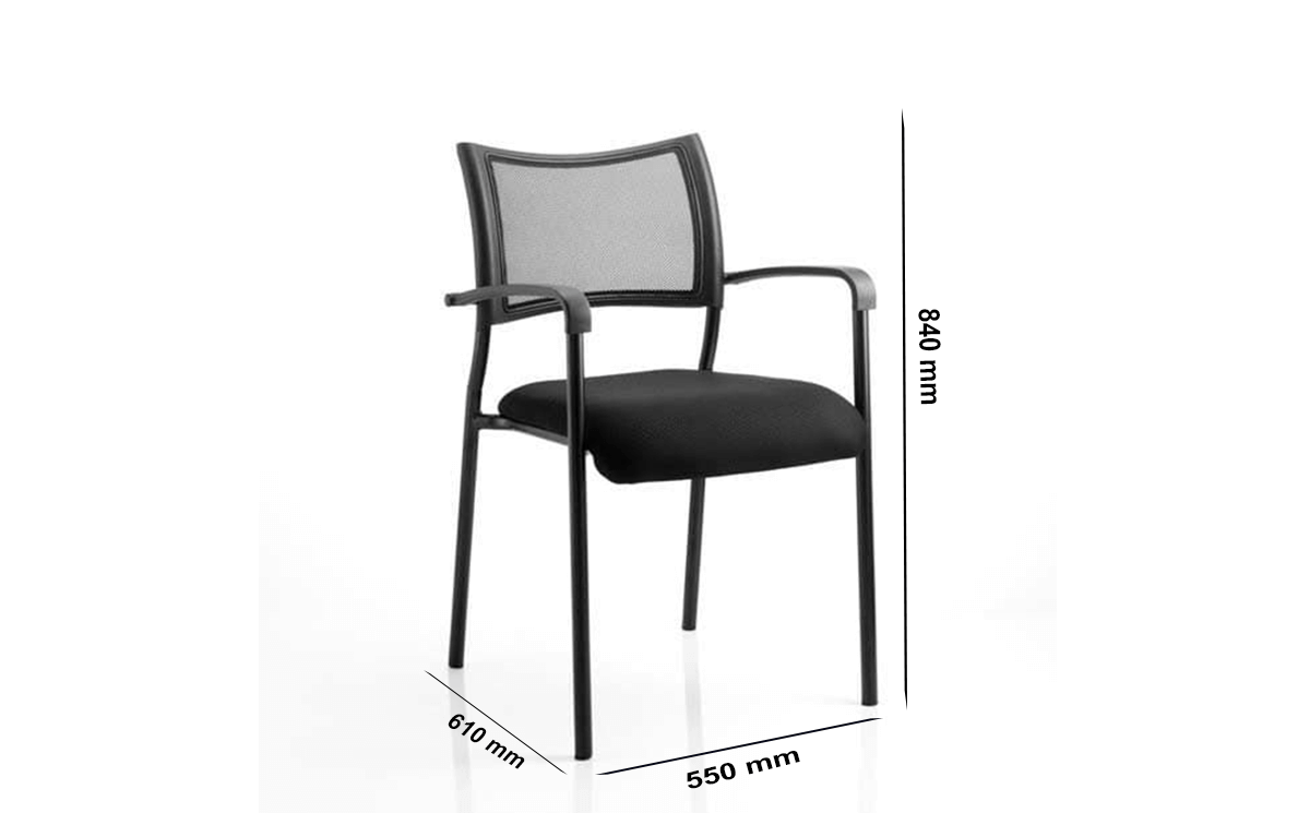 Size Dale – Mesh Back Black Visitor Chair