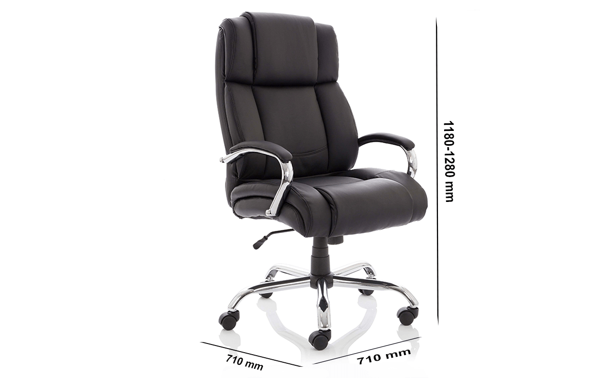 Size Drusilla Hd Leather High Black Chair With Arms