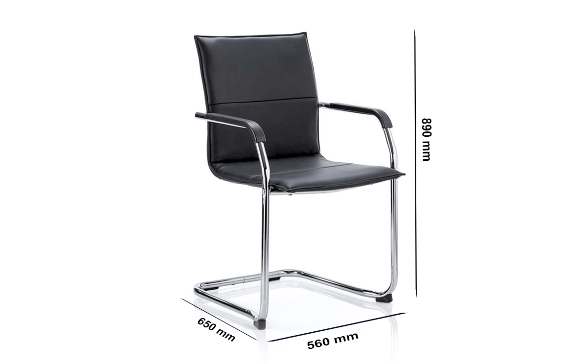 Size Echo – Leather Cantilever Startup Visitor Chair