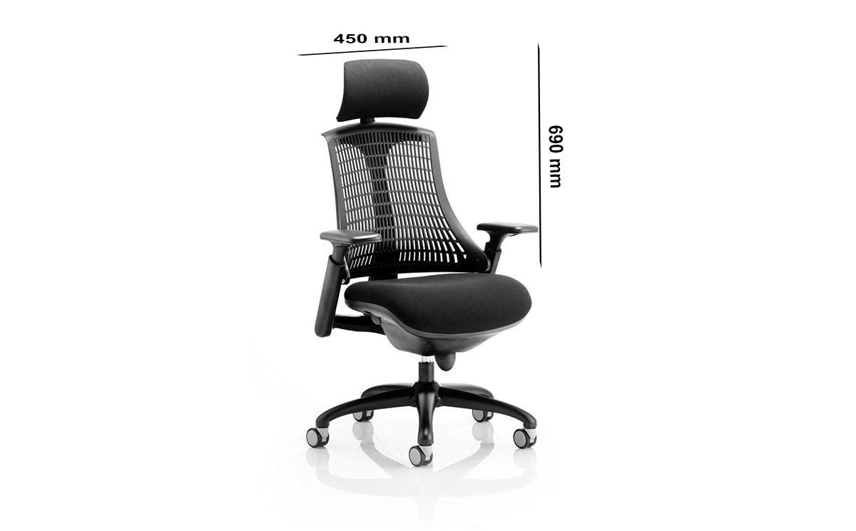 Size Echo – Task Operator Chair With Arms And Headrest