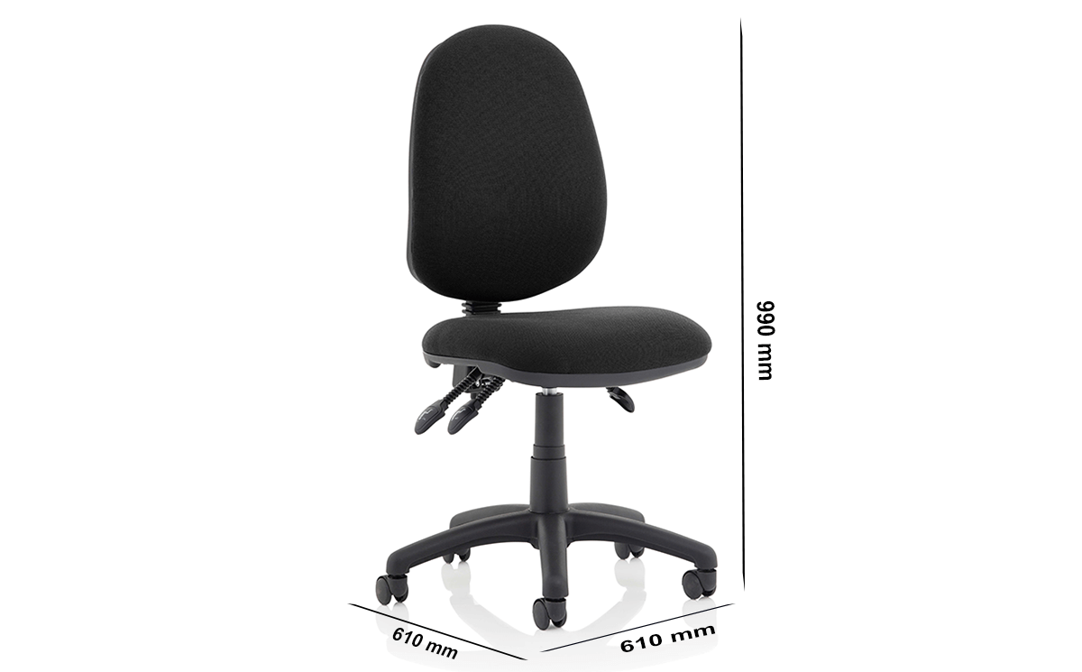 Size Felice High Back Fabric Operator Chair
