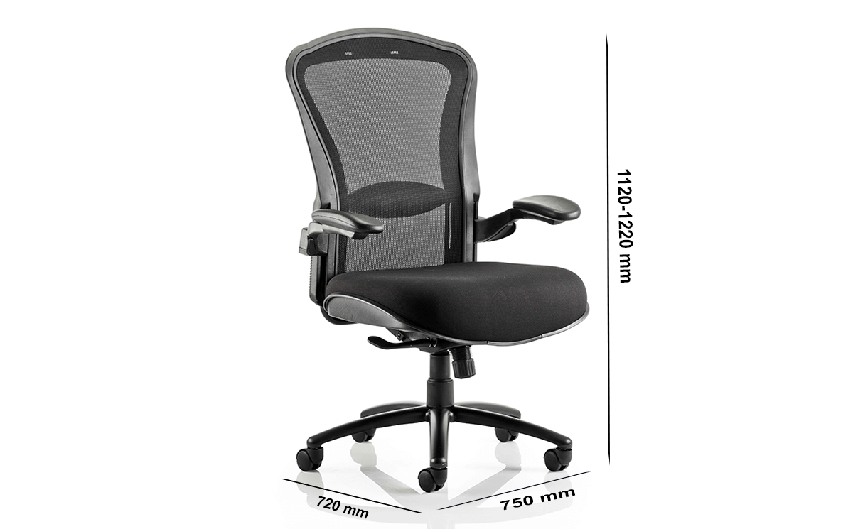 Size Fiorella Mesh Back With Fabric Seat Operator Chair With Arms