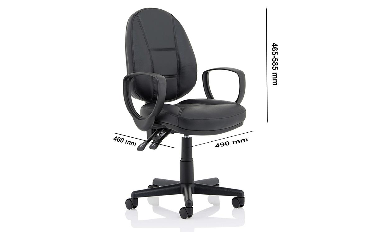 Size Flavia Black Leather High Back Executive Chair