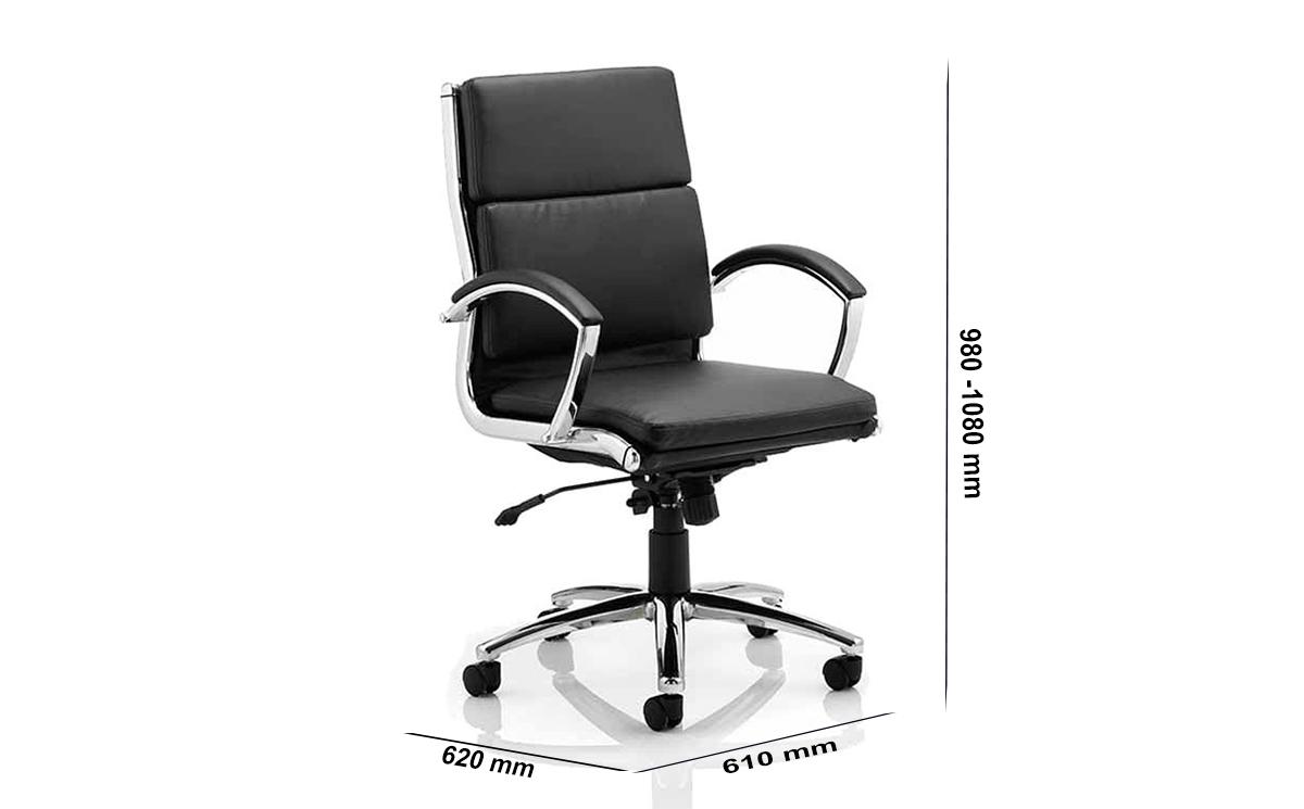 Size Gracian Medium Back Executive Chair With Arms