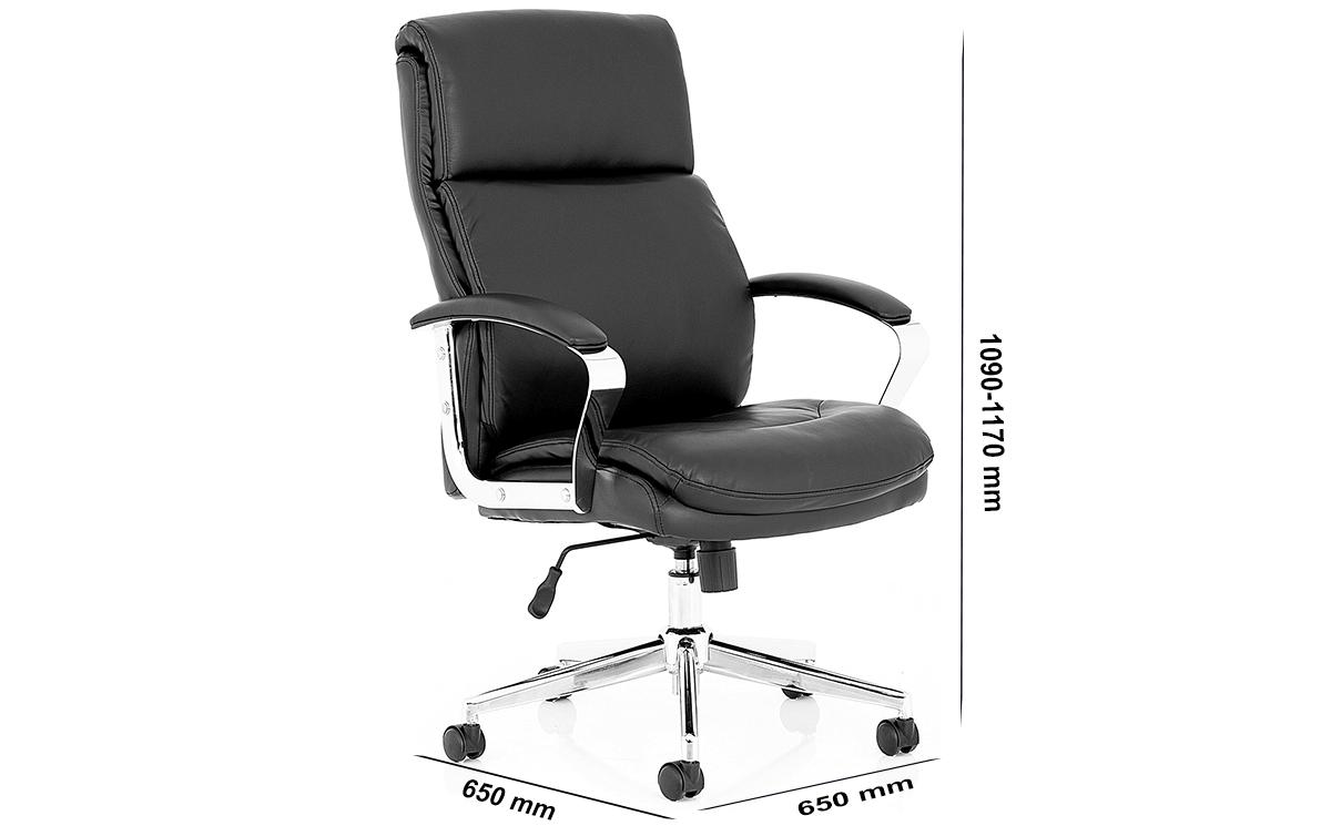 Size Jalie Black Leather Executive Chair