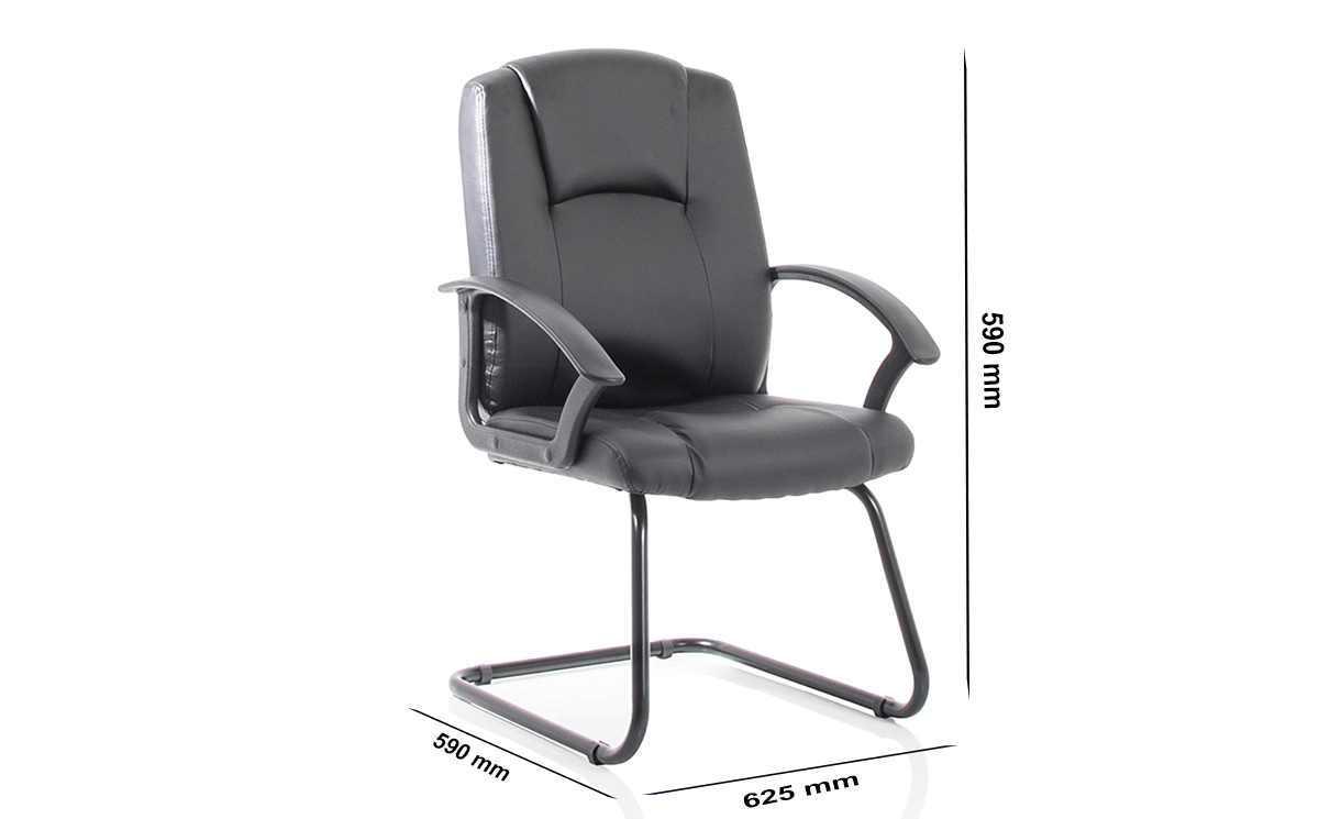 Size Lazaro Bonded Leather Cantilever Chair With Arms