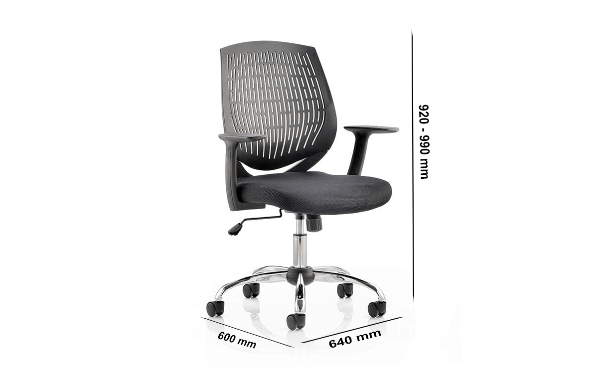 Size Lori 1 – Flexible Medium Back Operator Office Chair With Arms