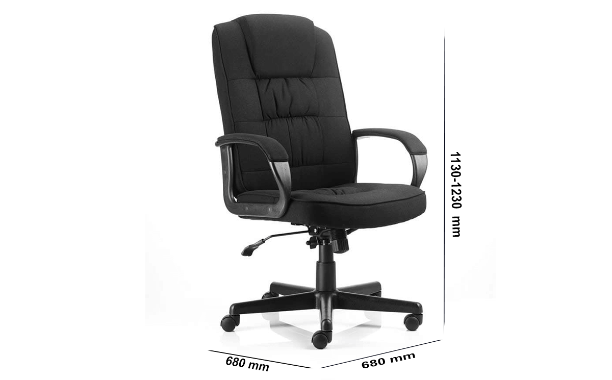 Size Mallow Black Executive With Arms