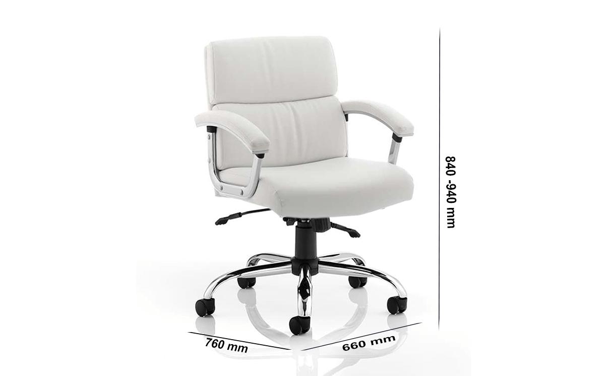 Size Marisa Medium Back White Executive Chair