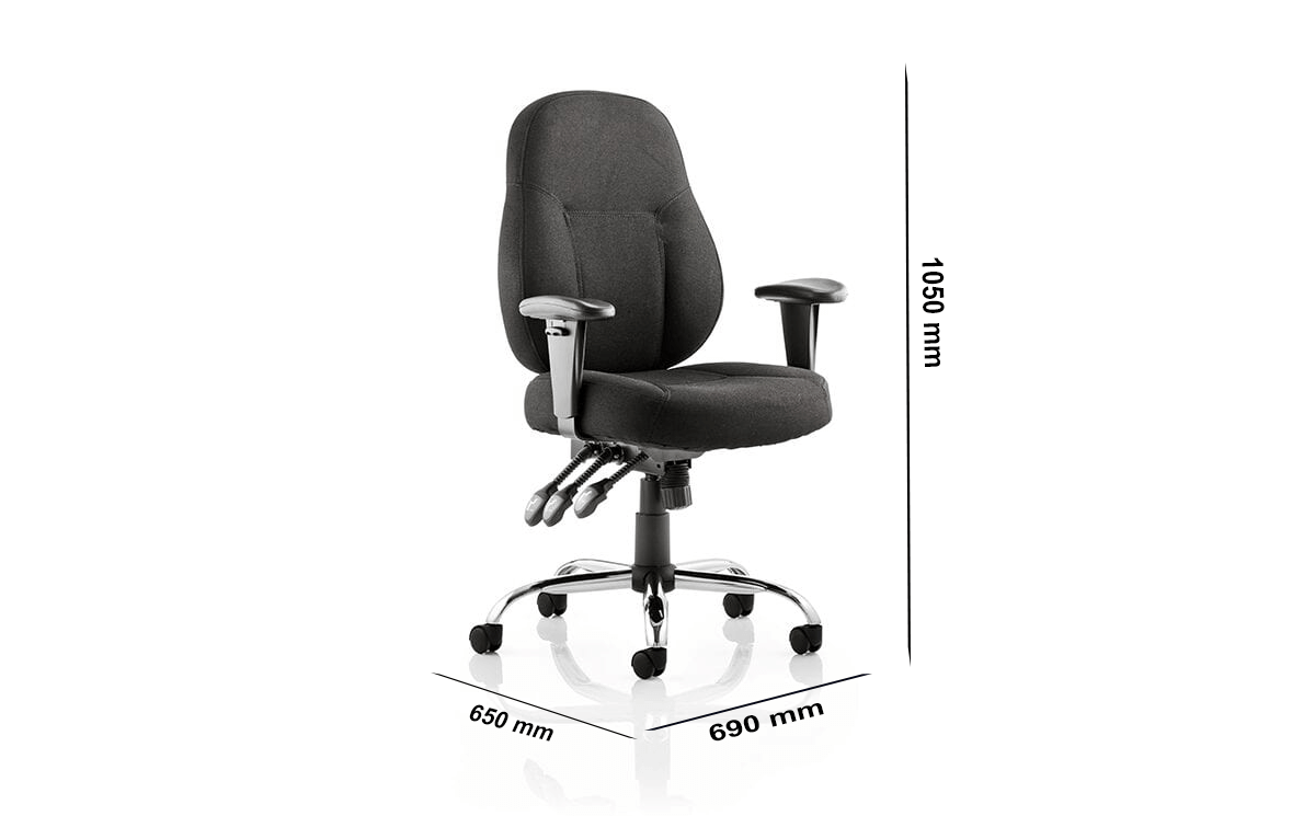 Size Storm – Black Operator Office Chair With Arms