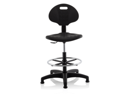 Stella Black Polyurethane Operator Chair Without Arms1