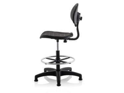Stella Black Polyurethane Operator Chair Without Arms2
