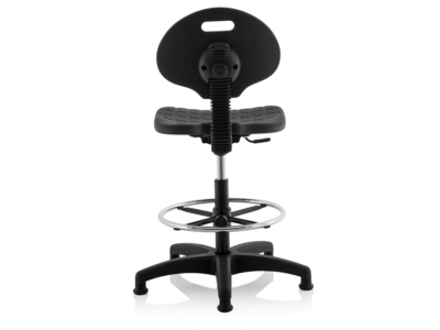 Stella Black Polyurethane Operator Chair Without Arms3