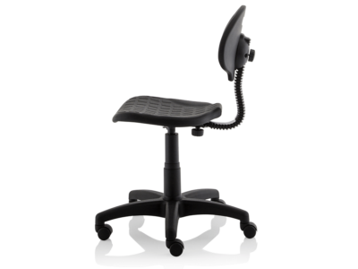 Stella Black Polyurethane Operator Chair Without Arms4