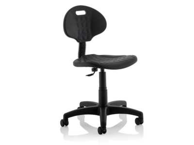 Stella Black Polyurethane Operator Chair Without Arms5