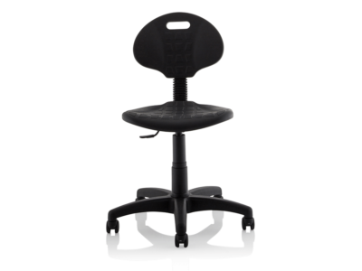 Stella Black Polyurethane Operator Chair Without Arms6