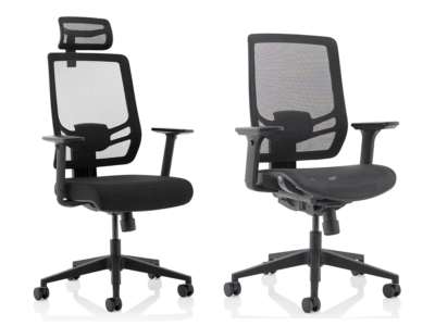 Teresa – Black Mesh Back Chair With Arms Main
