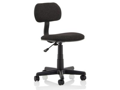 Vonda Black Fabric Typist Chair