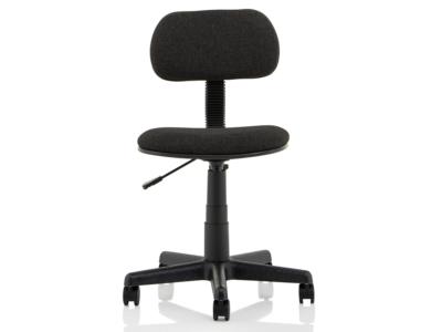 Vonda Black Fabric Typist Chair2