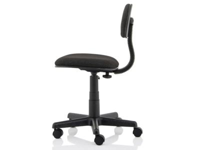 Vonda Black Fabric Typist Chair3
