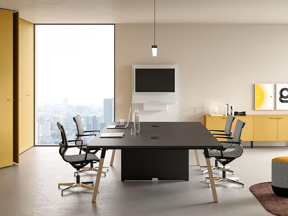 Union Meeting Table With Optional Centeral Panel Legs Main Image